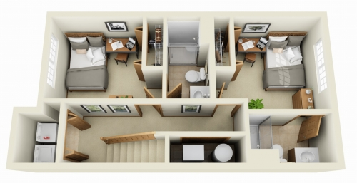 707 dale for Apartment 2d plans